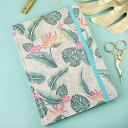 Personalised A5 Tropical Print Notebook