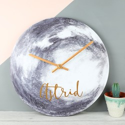 Personalised Moon Wall Clock