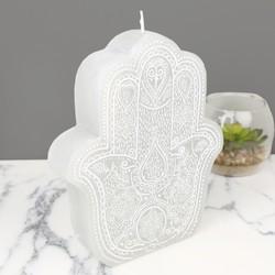 Large Boho Hamsa Candle