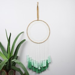 Pastel Green Tassel Dreamcatcher