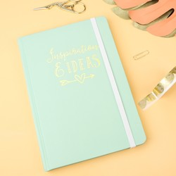 A5 Mint Green 'Inspiration & Ideas' Notebook