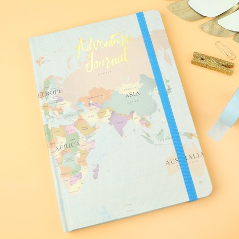 World map print adventure journal notebook lisa angel world map print adventure journal notebook sciox Images