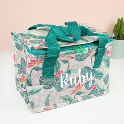 Personalised Botanical Tropics Lunch Bag