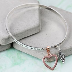 Silver 'Grandma...' Meaningful Words Charm Bangle