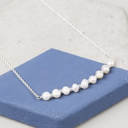 Freshwater Pearl Silver Chain Necklace