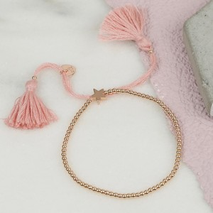 Dainty Links Star Bracelet in Pink & Rose Gold