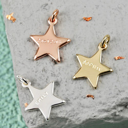 Personalised Hand-Stamped Star Bracelet Charm