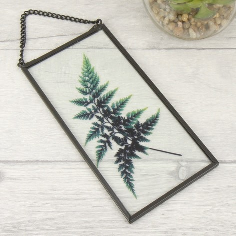 Temerity Jones Botanical Hanging Glass Plaque