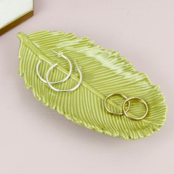Temerity Jones Green Palm Leaf Dish