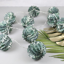 Temerity Jones Paper Palm Leaf Pattern String Lights