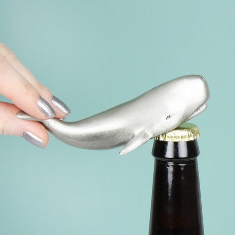 Moby Whale Metal Bottle Opener