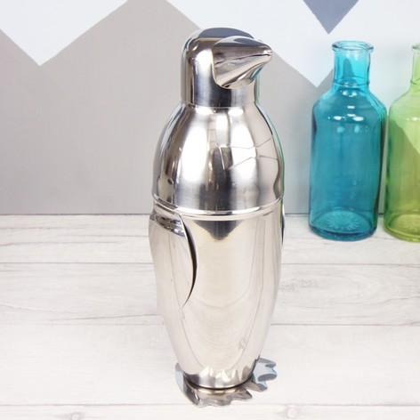 Stainless Steel Penguin Cocktail Shaker