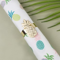 Shiny Gold Pineapple Napkin Holder