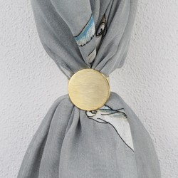 Brushed Gold Disc Scarf Ring