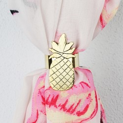 Brushed Gold Pineapple Scarf Ring