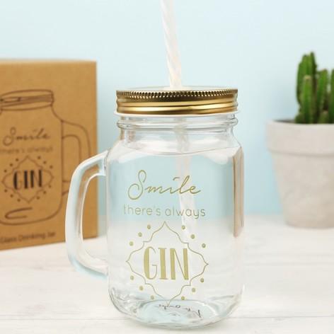 'Always Gin' Mason Jar
