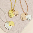 Lisa Angel Ladies' Personalised Sterling Silver Double Heart Pendant Necklace