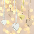 Lisa Angel Ladies' Personalised Sterling Silver Heart Charm Necklace