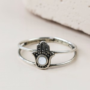 Sterling Silver Hamsa Hand Toe Ring
