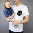 Lisa Angel Dad's Cotton Personalised Men's 'Family' T-Shirt