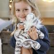 Children's Jellycat Sacha Snow Tiger Soft Toy