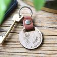 Lisa Angel Engraved Personalised Birth Flower Leather Strap Keyring