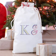 Lisa Angel Children's Personalised Initials Small Drawstring Christmas Sack