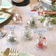Lisa Angel Set of 6 Christmas Bauble Dried Flower Place Card Holders
