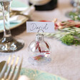 Lisa Angel Small Set of 6 Christmas Bauble Dried Flower Place Card Holders