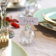 Lisa Angel Special Set of 6 Christmas Bauble Dried Flower Place Card Holders