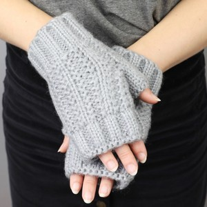 Acrylic Knit Handwarmers in Grey