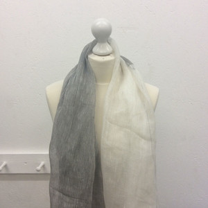 Half Grey Half Cream Scarf