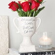 Personalised Ceramic Speckled Valentine's Trophy Vase