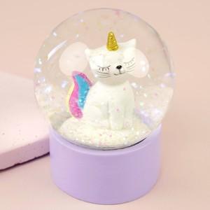 Cat Glitter Snowglobe
